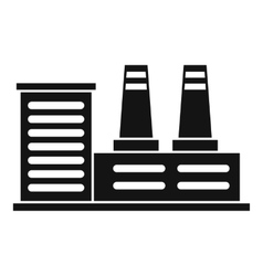 Power plant icon simple style vector image
