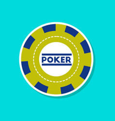 Paper sticker on stylish background single poker vector