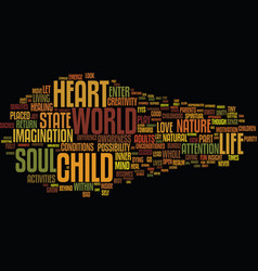 The nature of soul text background word cloud vector