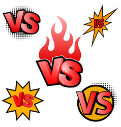 Versus letters symbol competition vs vector