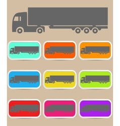 Icon trucks with refrigerator vector