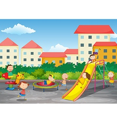 A playground vector image