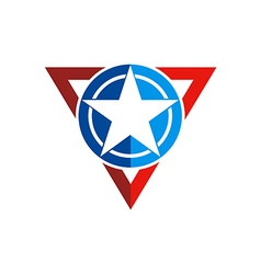 Star america triangle symbol logo vector