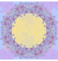Violet abstract design round frame vector