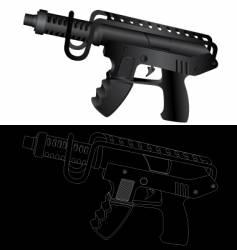 gun vector image