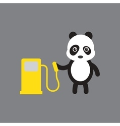 flat icon on gray background panda cartoon vector image
