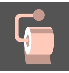Isolated toilet paper vector