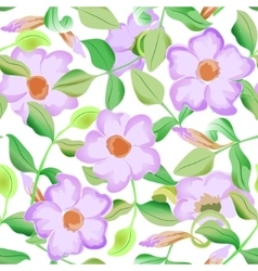 seamless pattern displaying bold flowers vector image