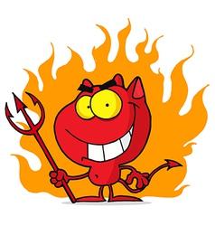 Cartoon halloween devil vector