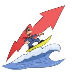 Wave of success 3 vector