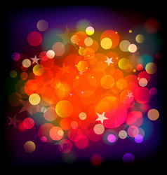 Abstract stars and blots backdrop vector