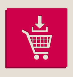 Add to shopping cart sign grayscale vector