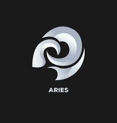Aries Horoscope Icon vector image vector image