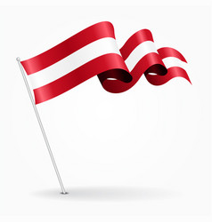 Austrian pin wavy flag vector