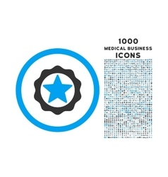 Award Seal Rounded Icon with 1000 Bonus Icons vector image vector image