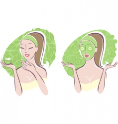 beauty care vector image vector image