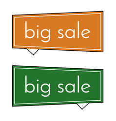 Big sale orange and green banner vector
