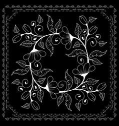 Black and white bandana vector