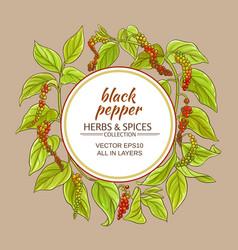 Black ground pepper frame vector