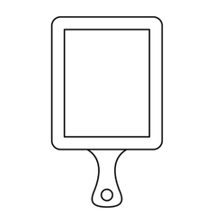 Cutting board icon outline style vector