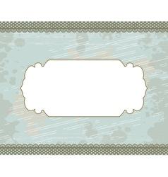 cyan blot frame background vector image vector image