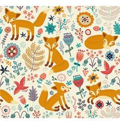 Foxy pattern vector image vector image