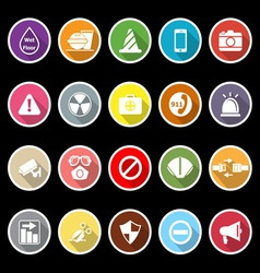 General useful icons with long shadow vector image vector image