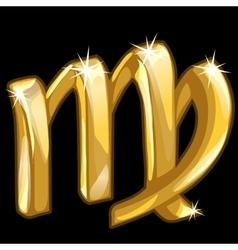 Gold zodiac sign scorpio on black background vector