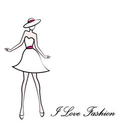 I love fashion vector image vector image