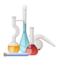 Lab flask set vector image vector image