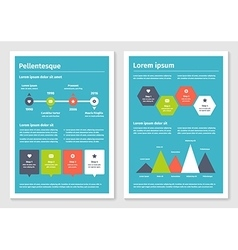 Modern business infographic brochure template 3 vector image vector image