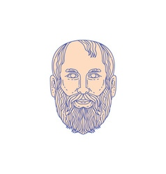 Plato Greek Philosopher Head Mono Line vector image vector image