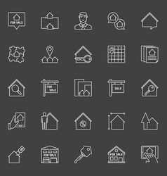 property for sale icon vector image