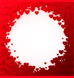 red heart frame heart confetti frame for banner vector image vector image