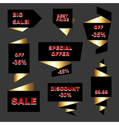 Set of stickers and labels vector
