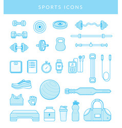 Sport icons isolated on white vector
