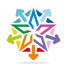 Star symbol pentagon design vector