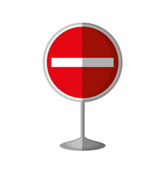 Stop traffic signal isolated icon vector