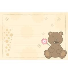 Teddy bear postcard vector