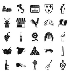 winery icons set simple style vector image