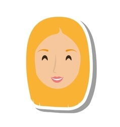 woman female avatar isolated vector image