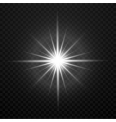 White glowing transparent brightly light vector