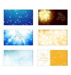 Christmas and New Year Greeting eCard vector image