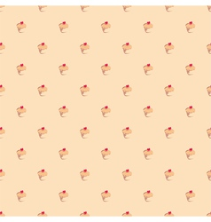 Seamless pattern or texture with muffin cupcakes vector