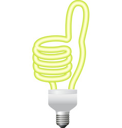 ok hand sign energy saving bulb vector image