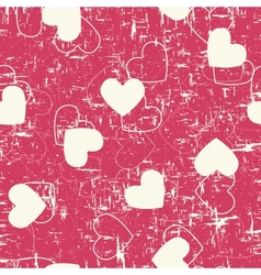 Seamless hearts grunge background vector
