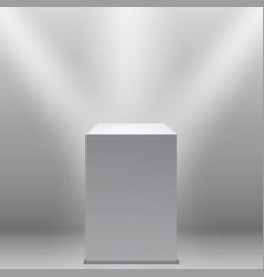 museum pedestal white empty 3d podium and vector image