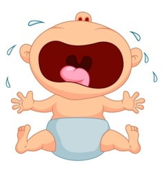 Cartoon baby boy crying vector
