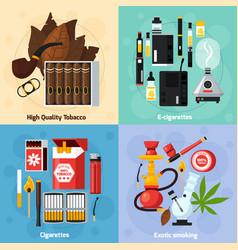 smoking 2x2 flat design concept vector image