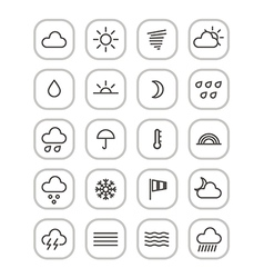 Weather forecast web icons collection vector